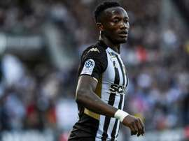Casimir Ninga scored a hat-trick in under 15 minutes. AFP