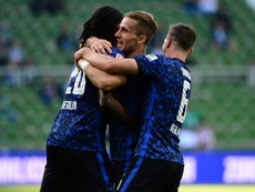 Hertha Berlin cruised to a 1-4 victory at Werder Bremen. AFP