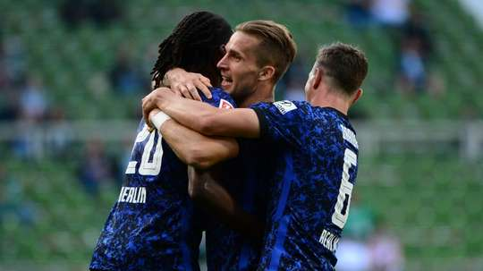 Hertha Berlin cruised to a 1-4 victory at Werder Bremen. AFP