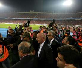 FIFA President Gianni Infantino attended the Asian Champions League final in Iran last year. AFP