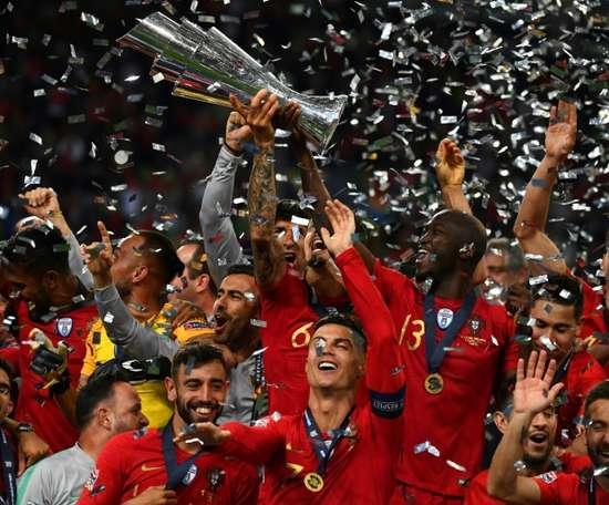 Cinco portugues no onze ideal da Liga das Nações. AFP