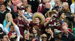 Hearts have been threatened with being banned. AFP