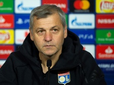 Bruno Genesio will look to mastermind another famous win over Manchester City. AFP