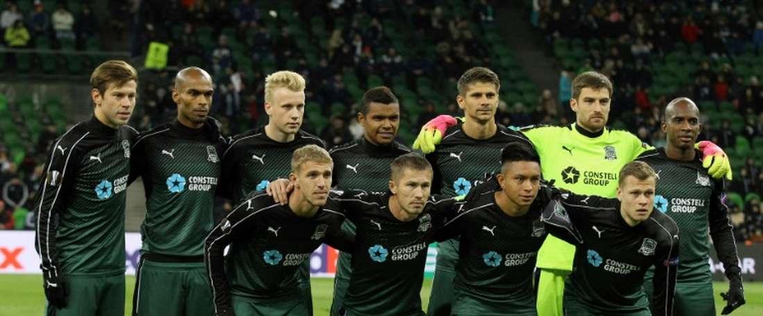 Krasnodar have moved up to fourth. AFP