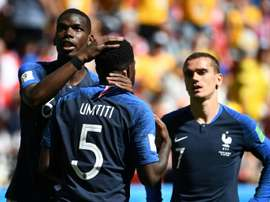 Umtiti took to social media to take the mick out of his handball. AFP
