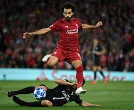 Mo Salah has not scored for three games. AFP