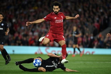 Salah came third in the FIFA Best awards. AFP