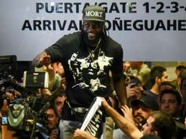 Olimpia's Emmanuel Adebayor was unable to get back to Togo. AFP