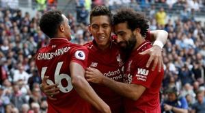 El Liverpool suma los mismos puntos que el Chelsea. AFP