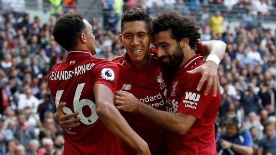 Jurgen Klopp Liverpool -Tottenham. AFP