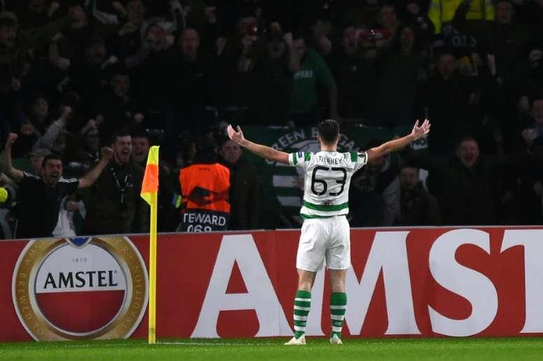 El Celtic cobró una suma importante por la venta de Tierney. AFP