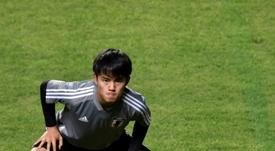 Kubo habló antes del Mallorca-Madrid. AFP