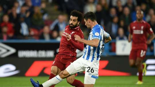 Mo Salah's goal proved to be decisve between the sides on Saturday. AFP