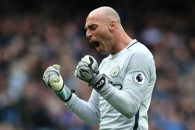 Caballero says the team spirit in the Chelsea dressing room is 'very good'. AFP