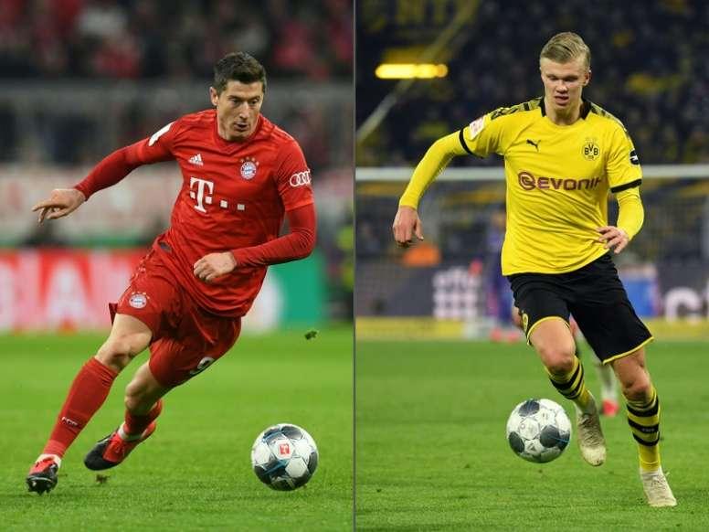 Lewandowski Haaland Go Head To Head In Bayern Dortmund Showdown Besoccer