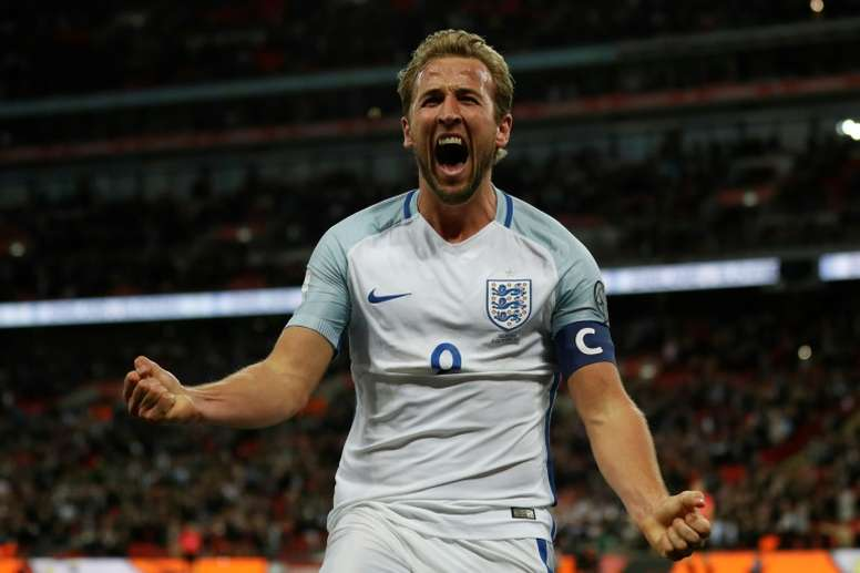 Kane was chosen to spearhead England's attack. AFP