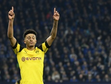 Sancho dedicated the goal to his late grandmother. AFP