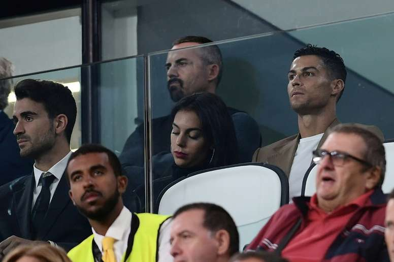 Cristiano Ronaldo and his girlfriend Georgina Rodriguez. AFP