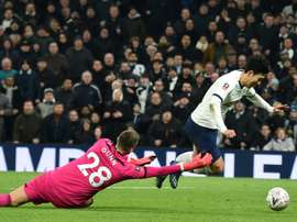 Son late show sends Spurs into FA Cup fifth round. AFP