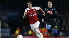 Mkhitaryan pourrait quitter Arsenal. AFP