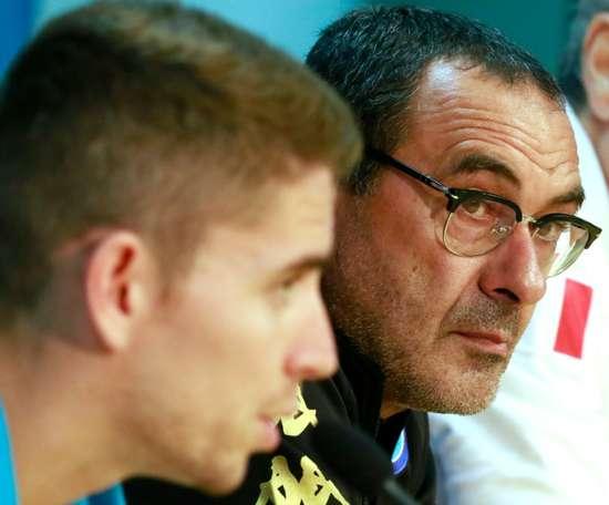 Sarri non dimentica Jorginho. AFP