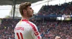 Timo Werner, una de las opciones para sustituir a Rodrigo. AFP