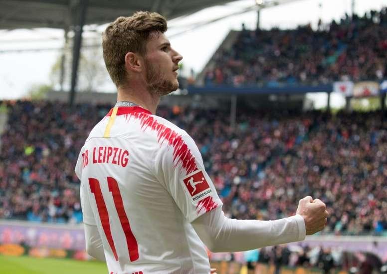 Werner dice 'no' a Barça y United para ir al Liverpool. AFP