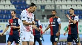 El Milan ya derrotó al Caglari antes que el Genoa. AFP