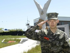 Tottenham's Son Heung-min did three weeks military service during corona break. AFP