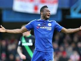 O nigeriano representou o Chelsea durante várias temporadas. AFP