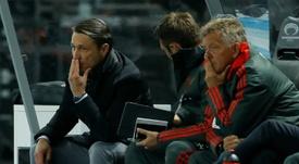 L'entraîneur n'a pas encore trouver sa méthode. AFP