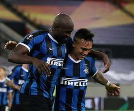 Romelu Lukaku and Lautaro Martinez both scored braces in Inter's 5-0 win over Shakhtar. AFP
