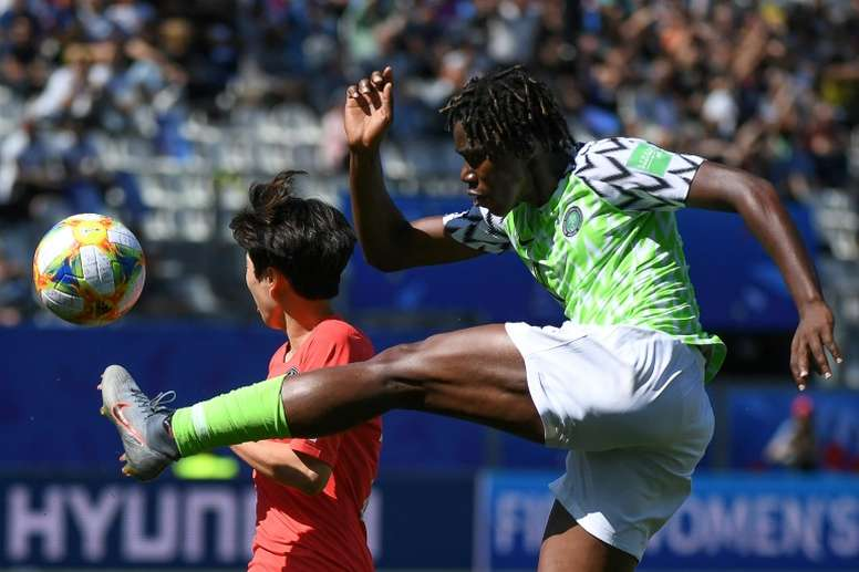 Nigeria eye World Cup knockouts after South Korea win. AFP