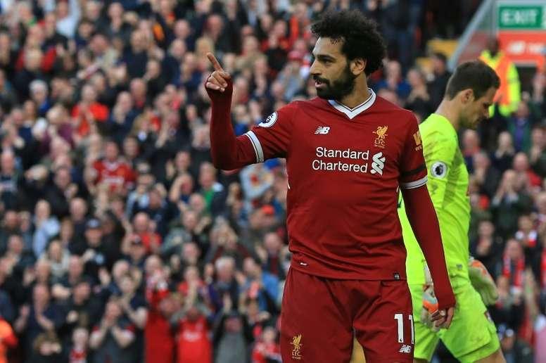 Salah prioriza los éxitos de equipo. AFP