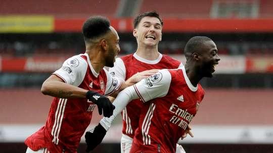 Le formazioni ufficiali di Arsenal-Rapid Vienna. AFP