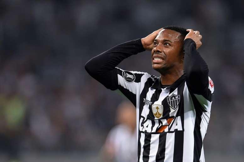 Santos suspend son contrat avec Robinho, condamné pour viol. afp