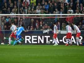 Marseille struck late. AFP