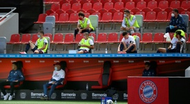 Bundesliga subsitutes no longer have to wear masks. AFP