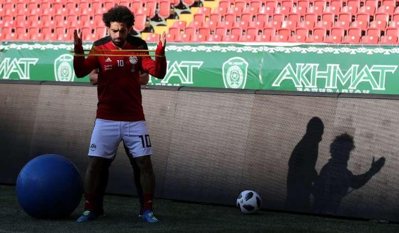 Salah espera defrontar o Uruguai. AFP