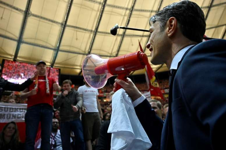 Kovac's job seems to be safe after victory over Leipzig in the final. AFP