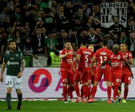 Montpellier won at Champions League chasing St Etienne. AFP