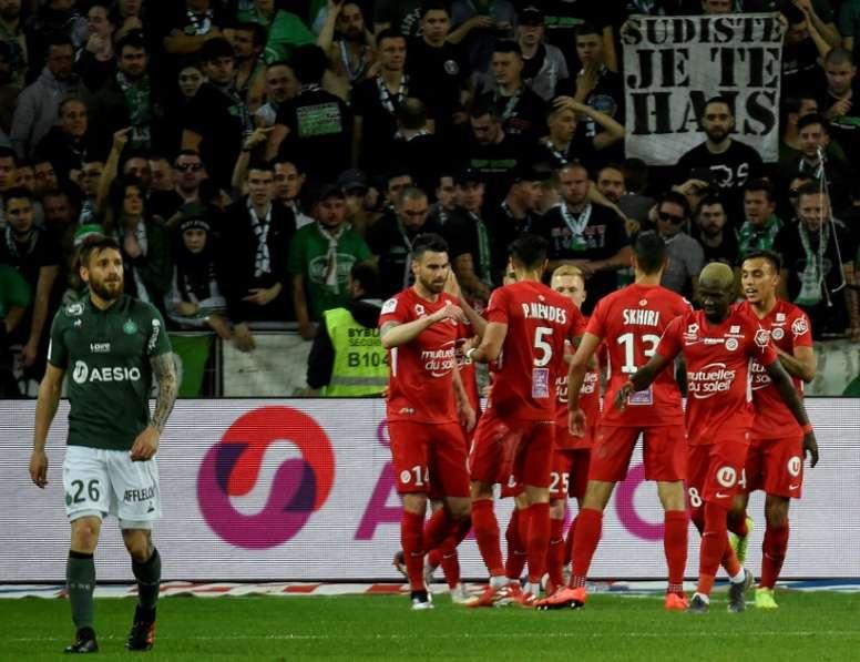 Laborde anotó el único gol del encuentro. AFP