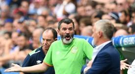 Roy Keane nunca defrauda ante los medios. AFP