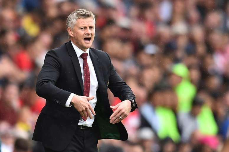 Solskjaer's ties with Old Trafford hanging on three threads. AFP