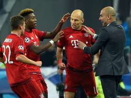 Robben was full of praise for his former boss. AFP