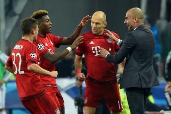 Para Robben, el mejor entrenador de su carrera es Guardiola. AFP