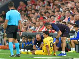 Barcelona injury problems pile up as Dembele latest victim. AFP