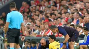 Suárez será desfalque por 3 semanas. AFP