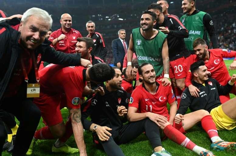 Turkey hold Iceland to reach Euro 2020 alongside France. AFP