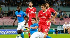 El jugador del Benfica, en el centro de la polémica. AFP